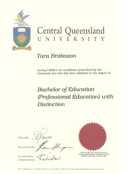 Bachelor of Professional Education